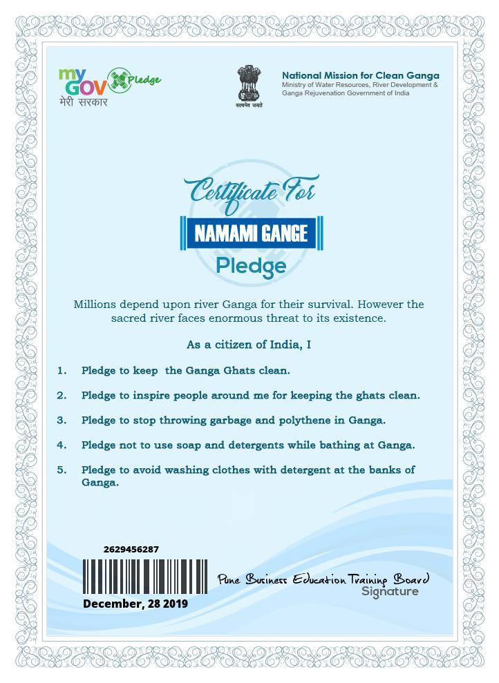 NMAMI Pledge